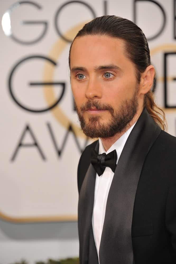 Jared Leto at the 71st Annual Golden Globe Awards at the Beverly Hilton Hotel.