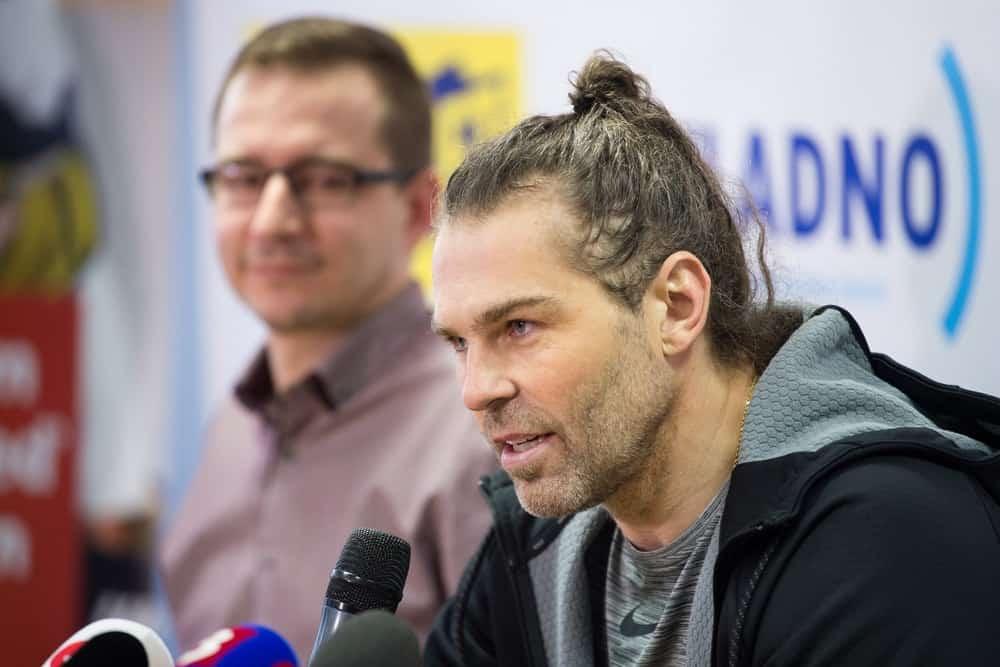 Czech ice-hockey player Jaromir Jagr during press conference in Kladno, Czech republic, February 1, 2018.