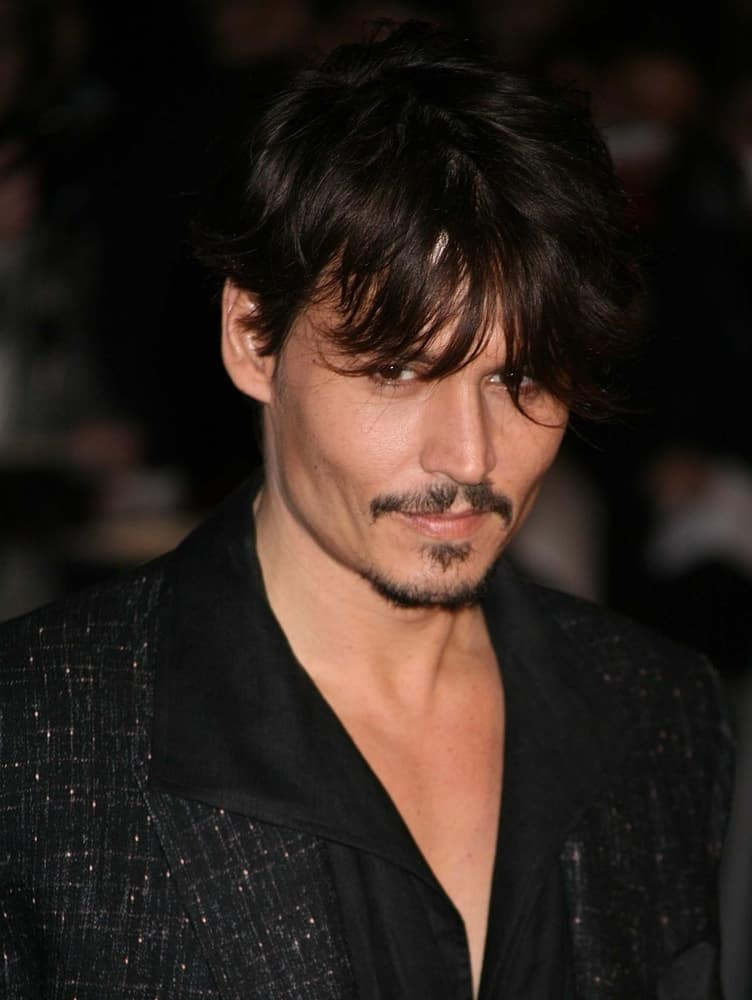 Johnny Depp at the European Premiere of 'Sweeney Todd' at the Odeon Leicester Square on January 10, 2008 in London, England.