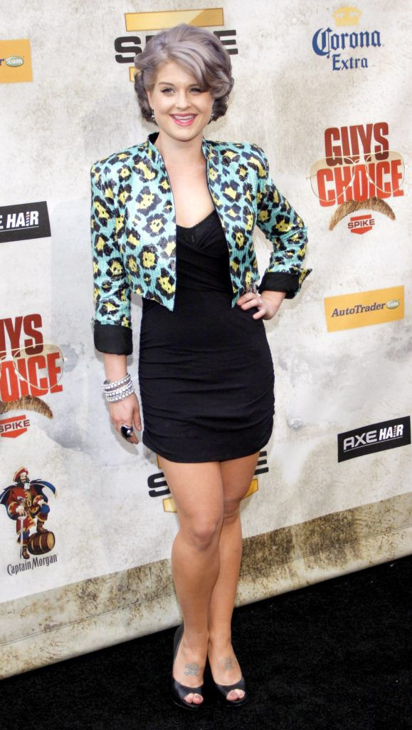 An elegant Kelly Osbourne with a stylish hairstyle, a black dress topped by a charming cropped blazer, spotted during the 2010 Guys Choice Awards held at the Sony Pictures Studios. Photo taken on 5th of June.
