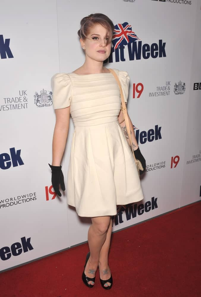Young and gorgeous. Kelly Osbourne looks absolutely elegant with her white dress and her hairstyle. This was taken  on 20th of April during the champagne launch party for BritWeek 2010.