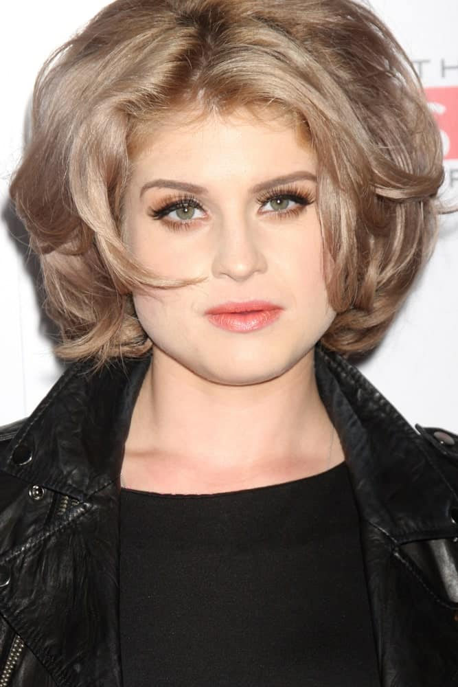 Kelly Osbourne with her stunning look on 19th of August, 2010, perfect during her visit at the