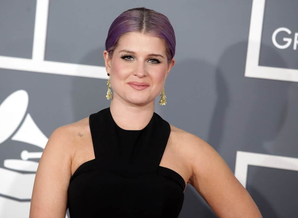 Kelly Osbourne's look as she arrived at the 2013 Grammy Awards in Hollywood, California, 10th of February.