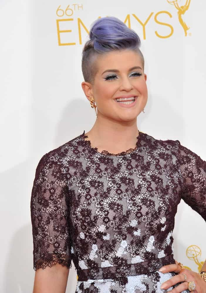 Kelly Osbourne at the 66th Primetime Emmy Awards at the Nokia Theatre L.A. Live. She looks both fierce and gorgeous. Photo taken on August 25, 2014.