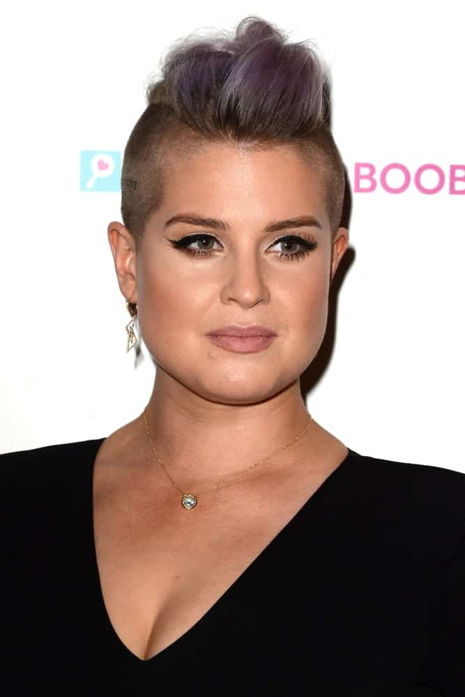 Kelly Osbourne with an elegant look at the Babes for Boobs Live Bachelor Auction at the El Rey Theater, taken on June 16, 2016 in Los Angeles, California.