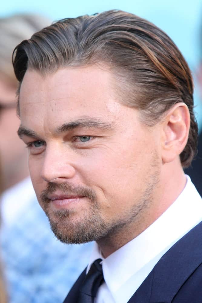 """Leonardo DiCaprio pulled off a stylish slicked back with some highlights during the premiere of """"The Great Gatsby"""" at Avery Fisher Hall on May 1, 2013."""