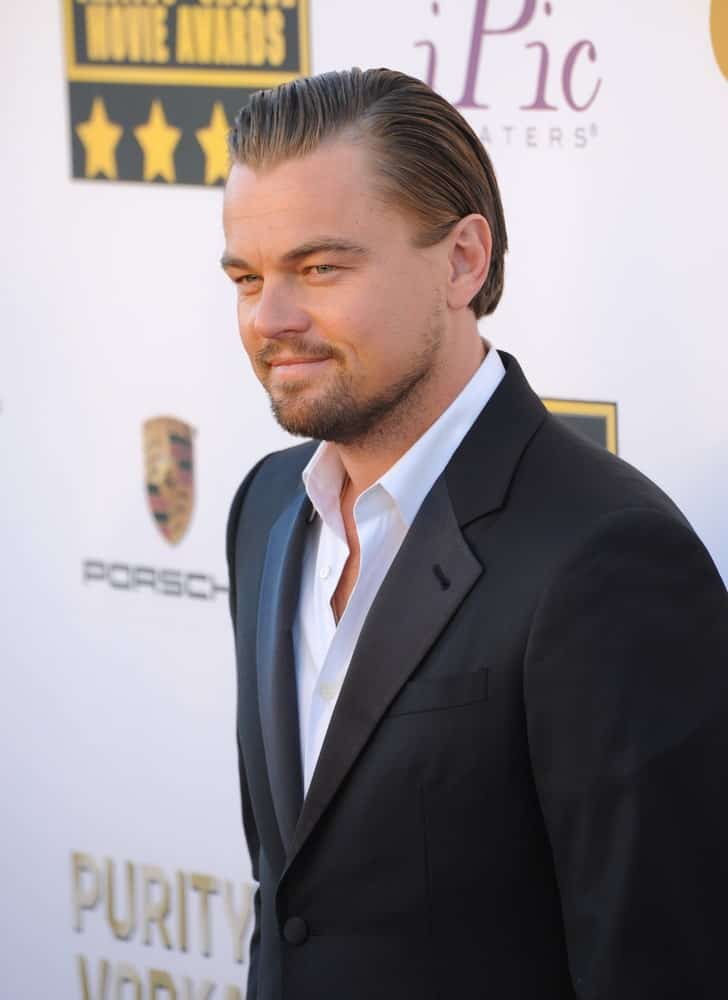 Leonardo DiCaprio had a clean and tidy slicked back complemented with stubble beard during the 19th Annual Critics' Choice Awards on January 16, 2014.