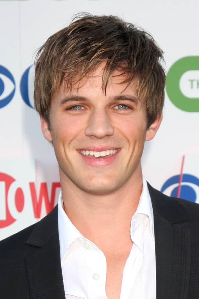 Matt Lanter smiles at the 2010 CBS, The CW, Showtime Summer Press Tour Party at The Tent Adjacent to Beverly Hilton Hotel on July 28, 2010 in Beverly Hills, CA.