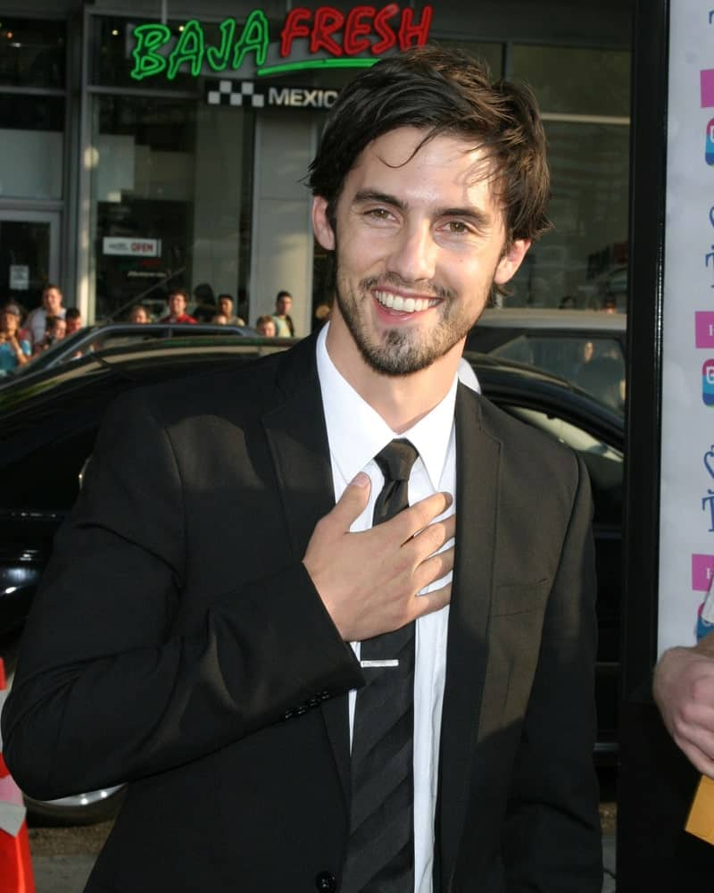 Milo Ventimiglia was spotted at The Sisterhood of the Traveling Pants Premiere on May 31, 2005 sporting his textured wavy hair styled in an edgy side part.