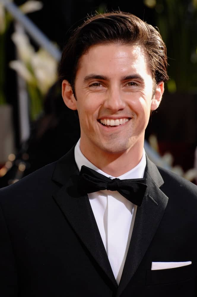 Milo Ventimiglia flashed a sweet smile while showcasing his comb over haircut at the 64th Annual Golden Globe Awards at the Beverly Hilton Hotel on January 15, 2007.