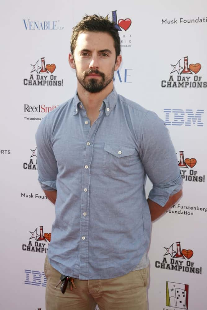Milo Ventimiglia complements his beard with a cool spiky hairstyle during the A Day Of Champions Benefiting the Bogart Pediatric Cancer Research Program on November 6, 2011.