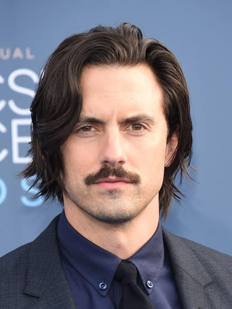 The actor had stylish side-swept waves and a mustache at the Critics' Choice Awards 2016 held in Hollywood, CA on December 11, 2016.