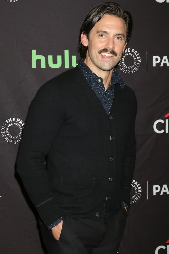 The actor arrived for the PaleyFest 2016 Fall TV Preview - NBC at the Paley Center For Media on September 13, 2016 with his signature side-swept plus a mustache.