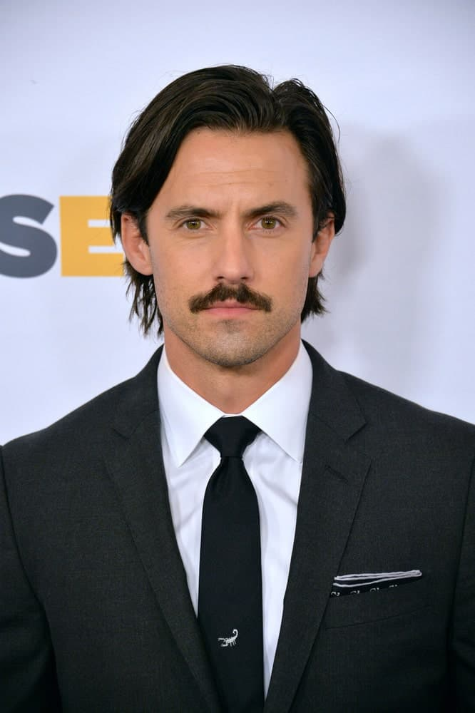 Milo Ventimiglia swept his long black locks in a side part during the 2016 GLSEN Respect Awards, honoring leaders in the fight against bullying & discrimination in schools last October 21st.