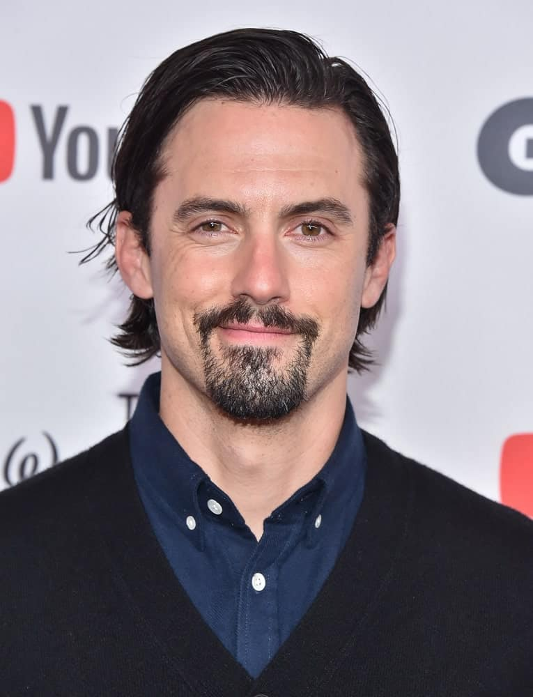 Milo Ventimiglia attended the GLSEN Respect Awards 2017 in Beverly Hills, CA on October 20th with a sleek side-swept hairstyle paired with his goatee beard.
