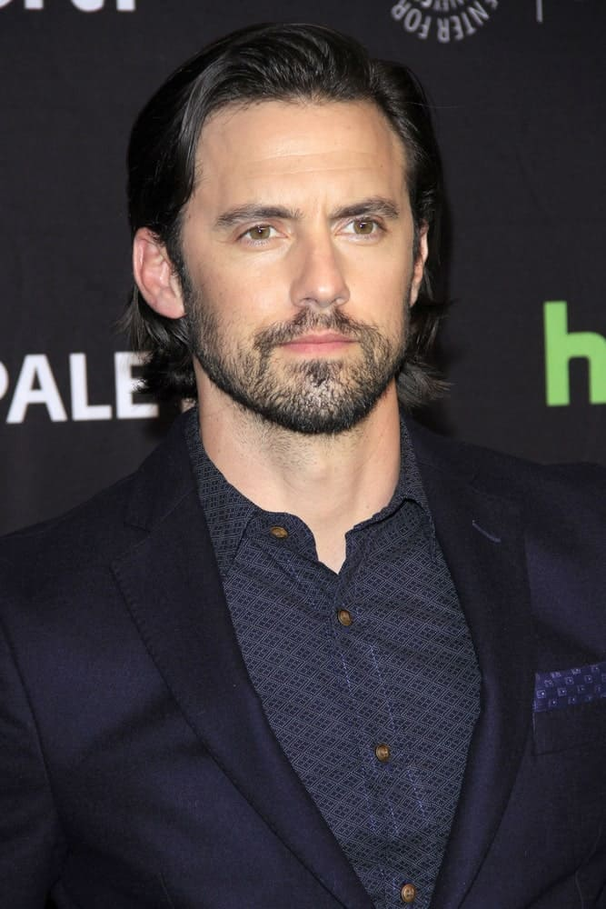 Milo Ventimiglia perfected his long side-swept hairstyle during the 34th Annual PaleyFest Los Angeles -
