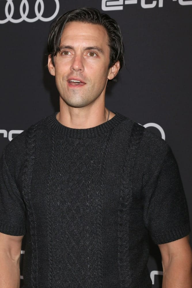 During the Audi Pre-Emmy Party at the La Peer Hotel on September 13, 2018, the actor pulled off his textured black hair styled with long side bangs.