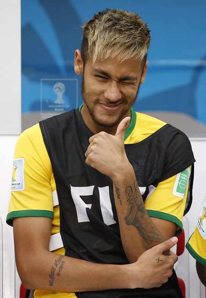 Neymar of Brazil during the World Cup Third place game between Brazil and the Netherlands in the Estadio Nacional.