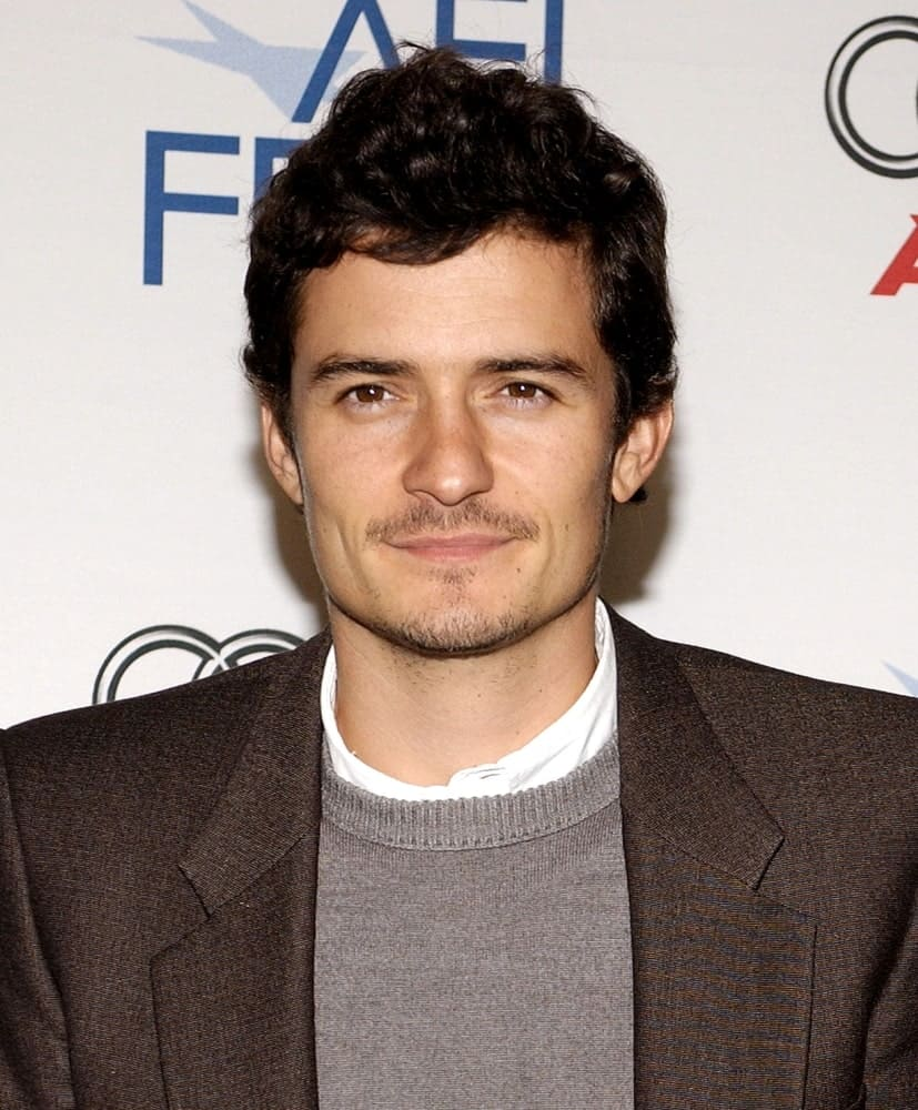 Orlando Bloom was quite dashing in his smart casual jacket and short curly pompadour hairstyle at the AFI FEST 2007 Tribute to Laura Linney, AFI FEST Rooftop Village, Los Angeles on November 09, 2007.