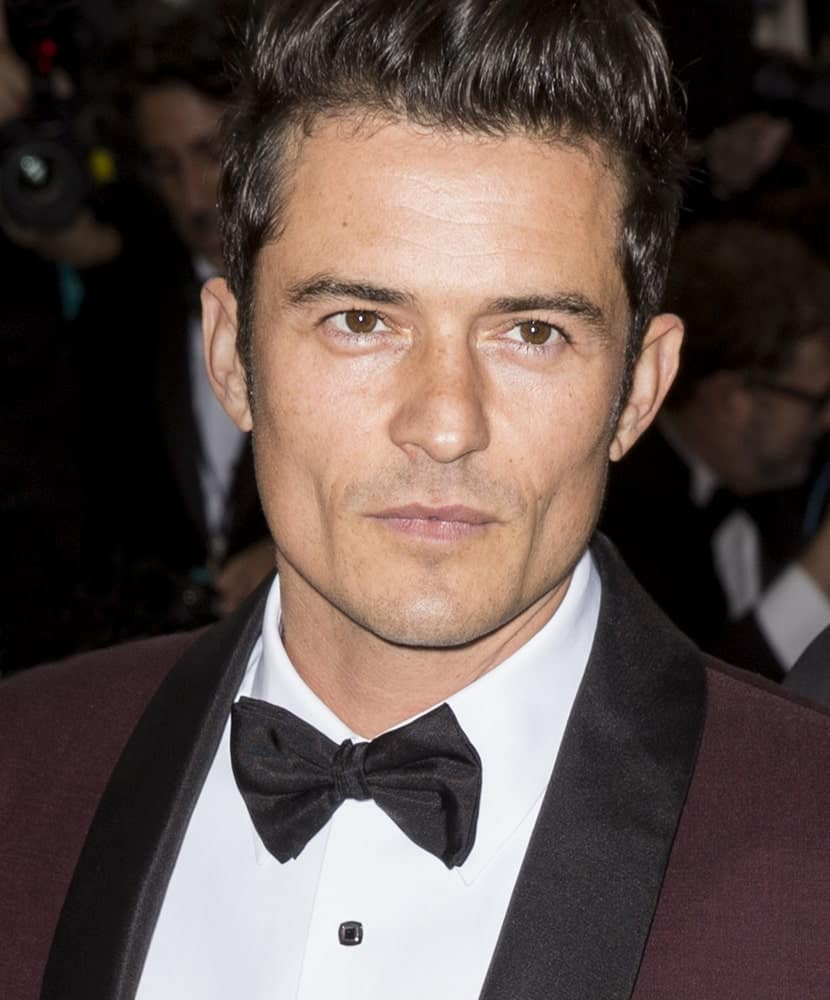 A slightly gaunt Orlando Bloom wearing a pompadour hairstyle attended the 2016 Manus x Machina Fashion in an Age of Technology Costume Institute Gala at the Metropolitan Museum of Art.