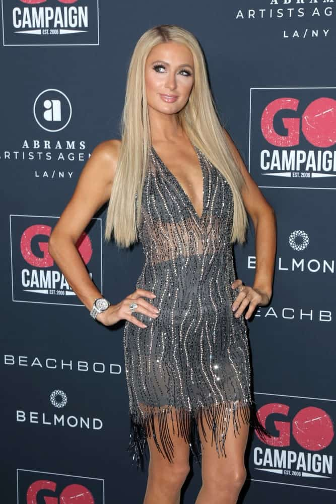 The actress wore a gorgeous sequined dress along with her long loose blonde locks at the Go Campaign's 13th Annual Go Gala on November 16, 2019.