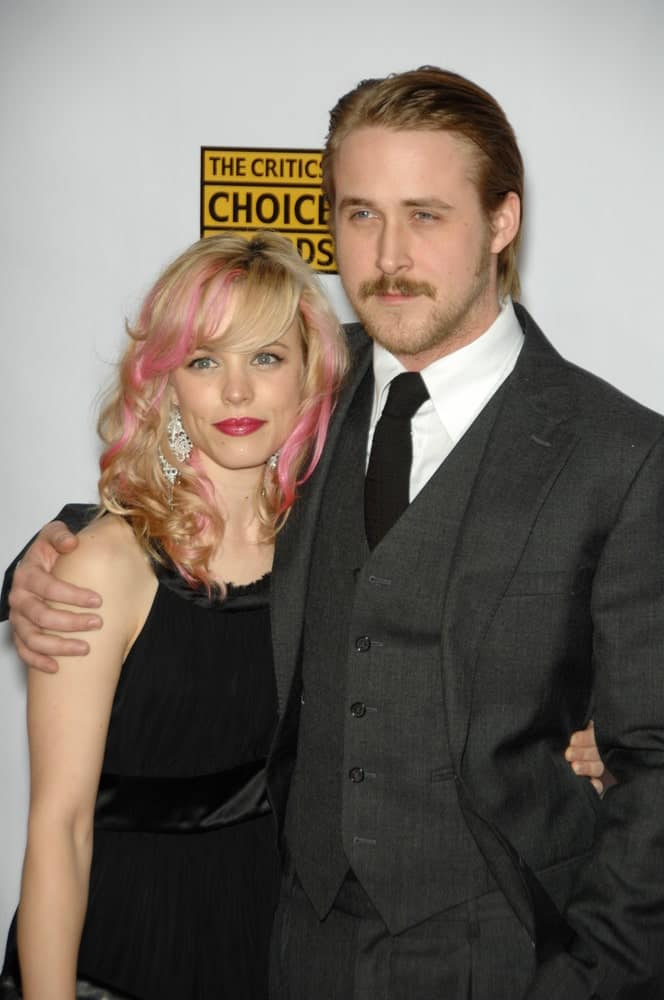 Rachel McAdams & Ryan Gosling were at the 12th Annual Critics' Choice Awards at the Santa Monica Civic Auditorium on January 12, 2007. Gosling wore a three-piece suit with his long slicked back hairstyle.