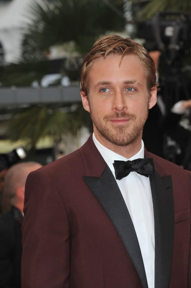 Ryan Gosling's slightly tousled side-parted hairstyle worked great with his trimmed beard and dapper maroon suit at the 64th Festival de Cannes awards gala on May 22, 2011 Cannes, France.