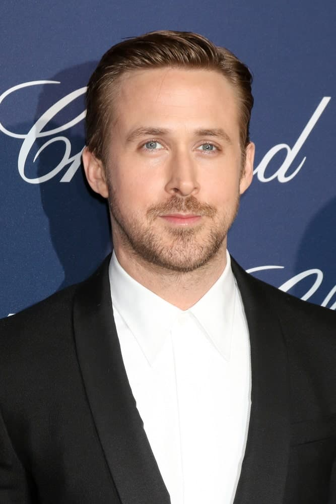 Ryan Gosling looked dapper in his black tux and brushed back slick hairstyle at the Palm Springs International Film Festival Gala at Palm Springs Convention Center on January 2, 2017 in Palm Springs, CA.