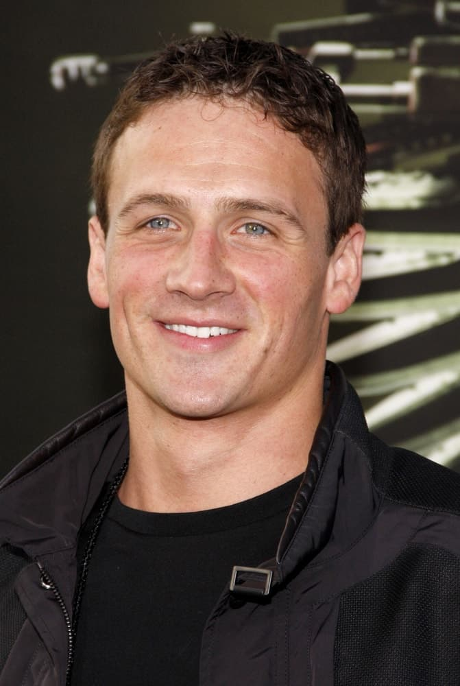 Ryan Lochte at the Los Angeles premiere of