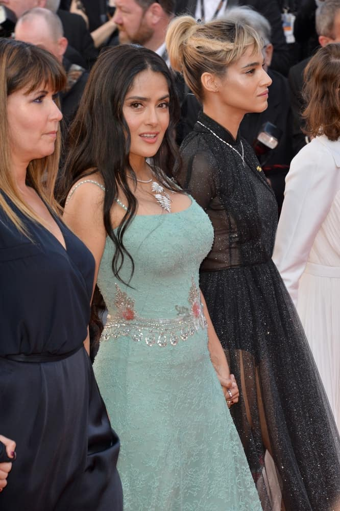 "Last May 12, 2018, Salma Hayek was at the gala screening for ""Girls of the Sun"" at the 71st Festival de Cannes. She looked stunning in her detailed green dress and her loose tousled wavy layers."