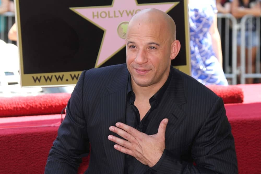 Here's a look at Vin Diesel, one of Hollywood's most popular actors who sport the bald style. This photo was taken on the Hollywood Walk of Fame Ceremony.