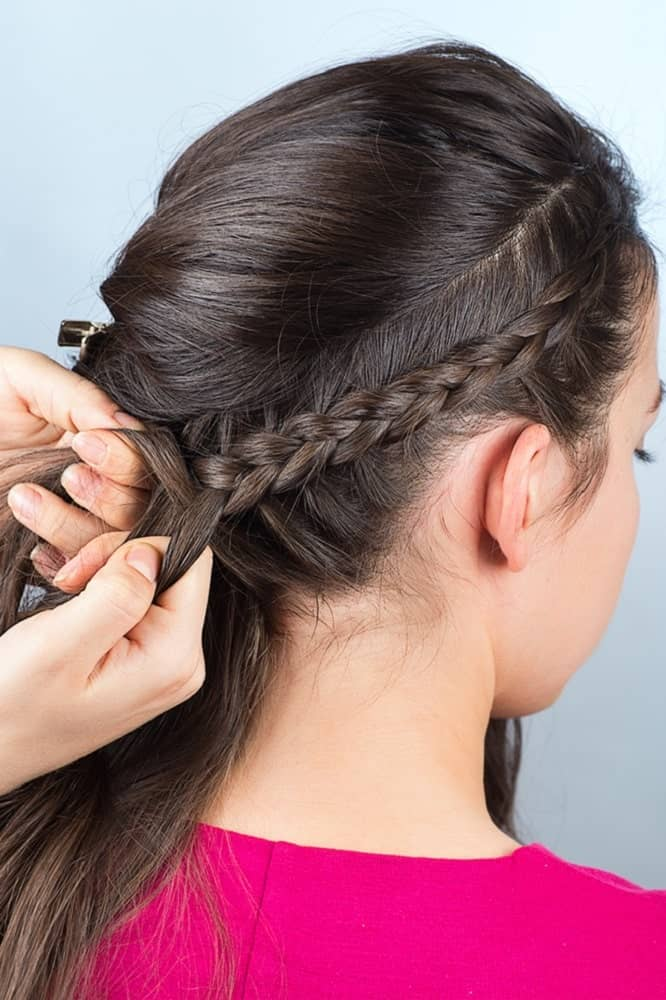Step 3: French braid the side of your hair from the front to the other side