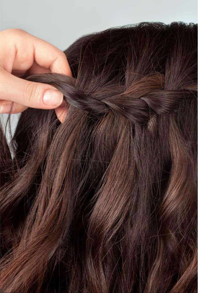 Step 3: Start to create your boho braid.