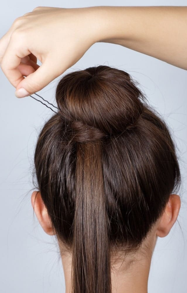Step Five: Pin the Bun in Place