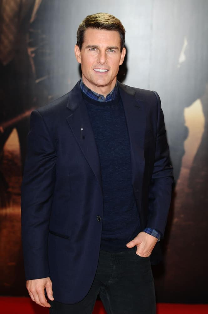 """Tom Cruise was at the premiere of """"Mission Impossible Ghost Protocol"""" at the IMAX cinema, South Bank, London last December 13, 2011. He was quite a stunner in his smart casual outfit and short crew cut hairstyle."""