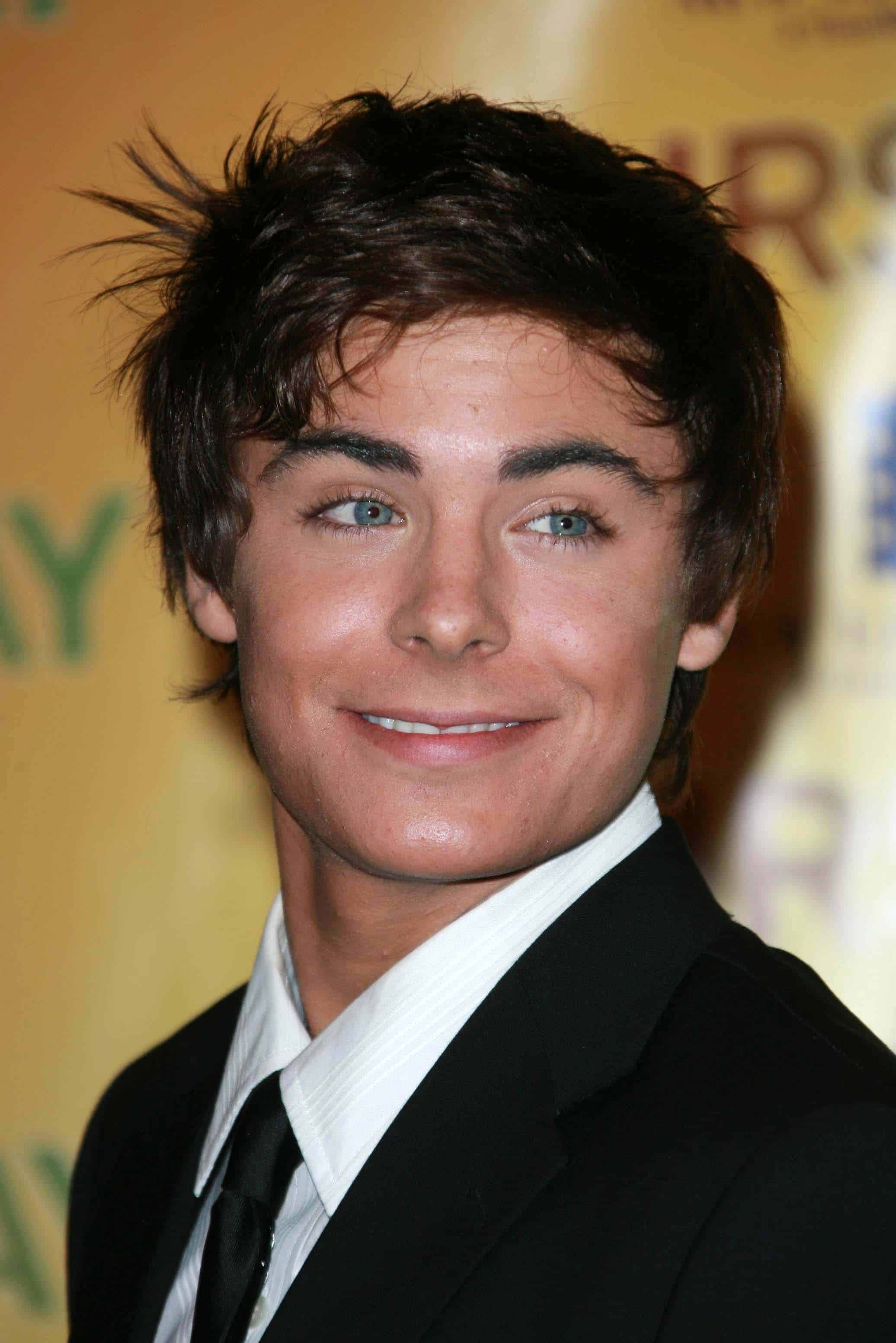 Zac Efron in his youth, at the ShoWest 2007 Photocall for