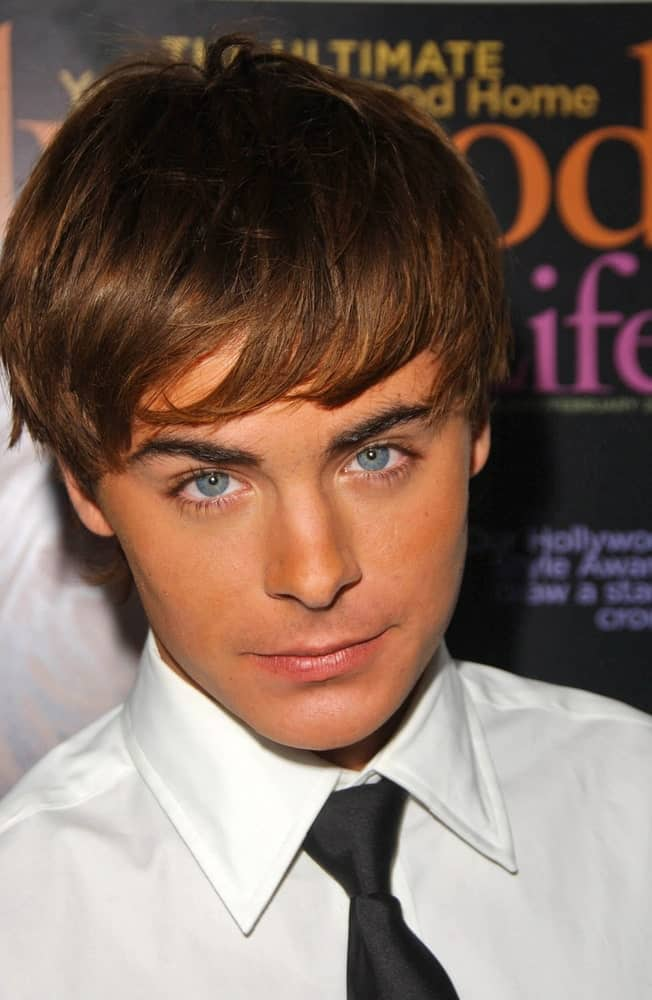 A young Zac Efron in Hollywood, California, attending the Hollywood Life Magazine's 9th Annual Young Hollywood Awards.