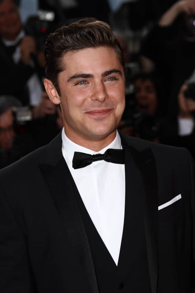 Zac Efron in a black suit with a bow tie in Cannes, France during the 'The Paperboy' premiere on May 24, 2012.