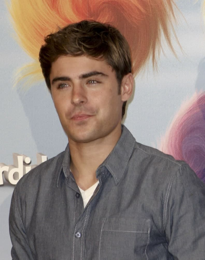 Zac Efron on March 8, 2012 in Madrid during the presentation of the movie