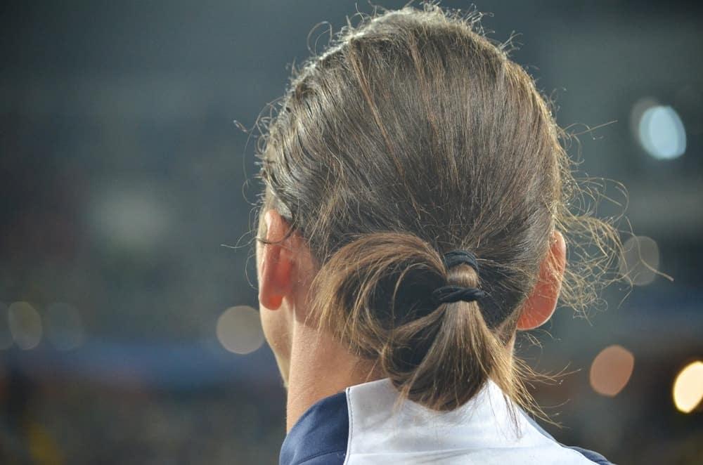 Back profile of Zlatan Ibrahimovic's hairstyle during the UEFA Champions League match between Shakhtar vs PSG, 30 September 2015, Arena Lviv, Lviv, Ukraine.