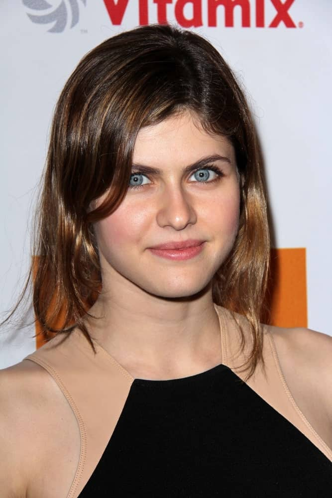 """Alexandra Daddario at the Launch of Kimberly Snyder's """"The Beauty Detox Foods""""' at the Smashbox Studios on March 26, 2013, in Los Angeles, CA."""