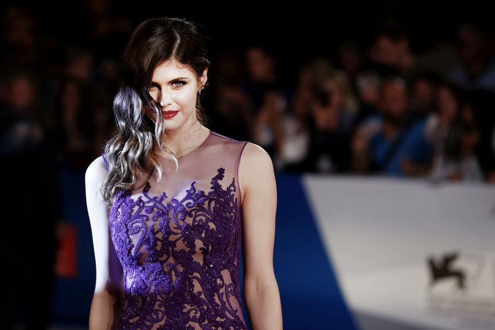 Alexandra Daddario attends 'Burying The Ex' Premiere during the 71st Venice Cinema Festival on September 4, 2014, in Venice, Italy.