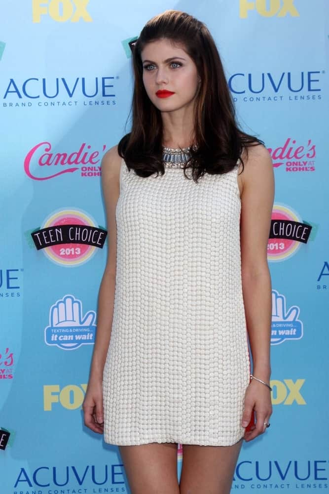 Alexandra Daddario at the 2013 Teen Choice Awards Arrivals, Gibson Amphitheatre, Universal City, CA on Aug. 11, 2013.