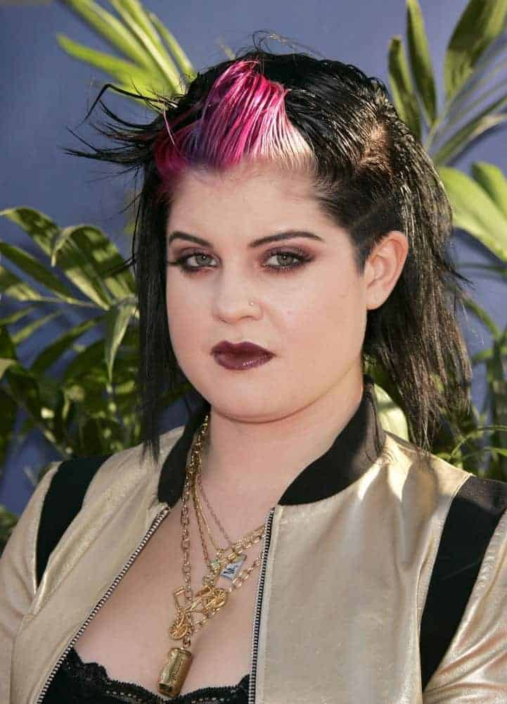 Kelly Osbourne back in July 13, 2004, sporting a punk-style look. This was taken during the ABC Summer Press Tour Party in Los Angeles, California.