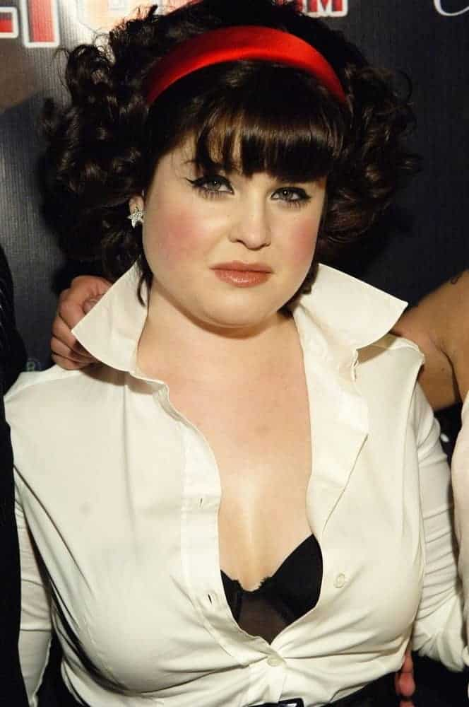 Kelly Osbourne flaunted her black permed hair with headband during The Queen's Birthday Ball for Perez Hilton on March 23, 2007 at West Hollywood, Los Angeles, California.