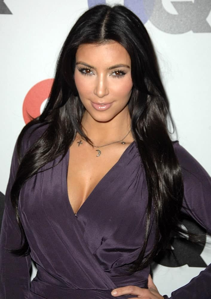 Kim Kardashian flaunted her long loose waves at Gentleman's Quarterly GQ Men of the Year Event held on November 18, 2009, at Chateau Marmont, Los Angeles, CA.