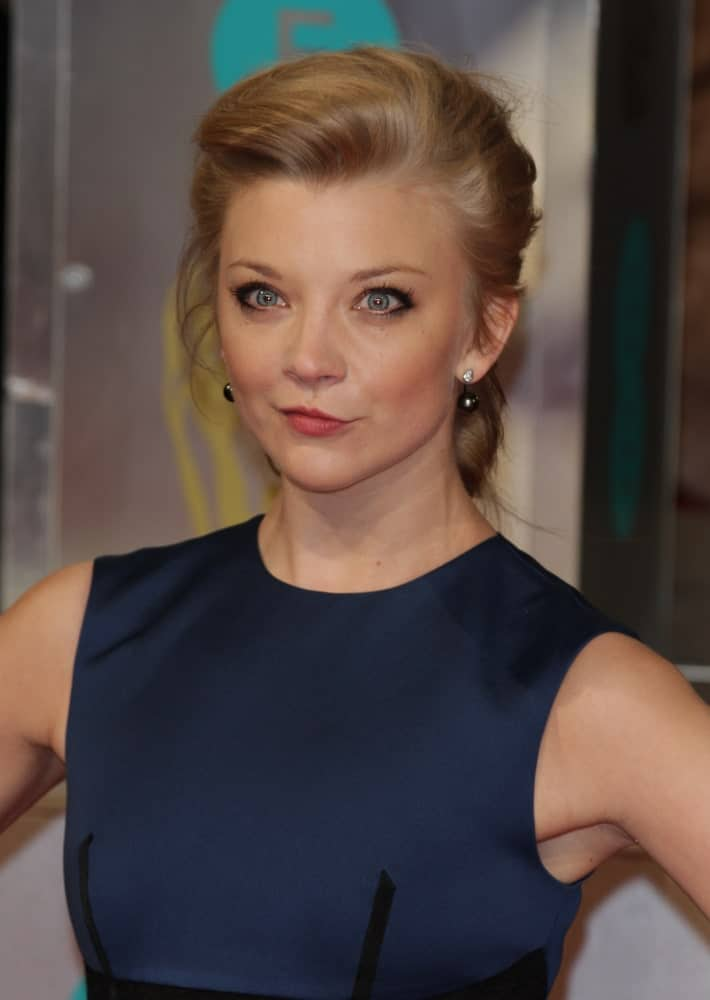 Natalie Dormer sported a loose slicked bun that flatters her facial features during the EE British Academy Film Awards at The Royal Opera House in London last February 8, 2015.