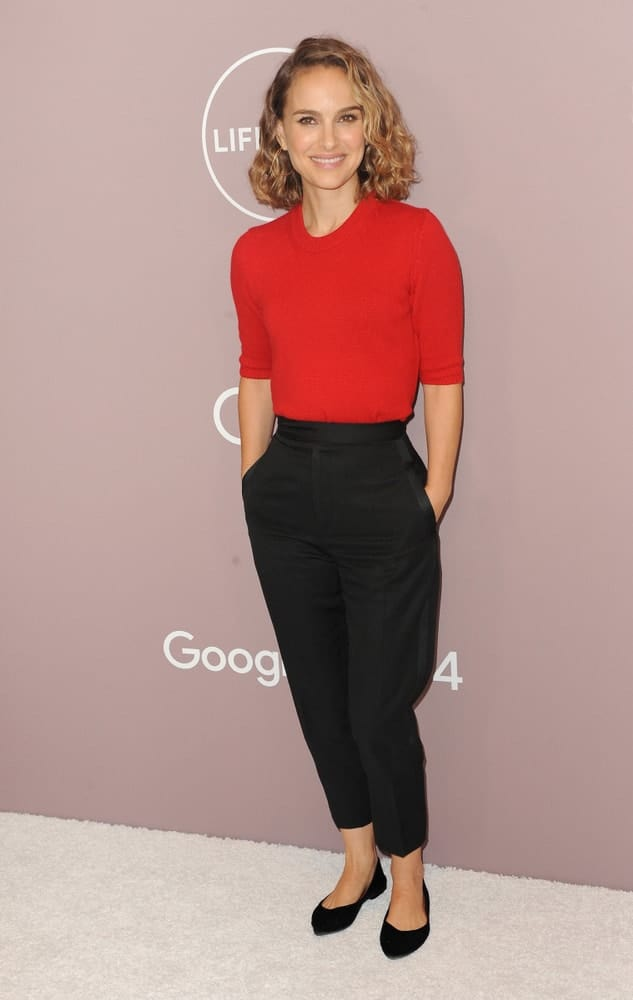 Natalie Portman was elegantly charming in the simple red outfit that she paired with a side-swept curly blond shoulder-length hairstyle at the Variety's 2019 Power Of Women held at the Beverly Wilshire Four Seasons Hotel in Beverly Hills, USA on October 11, 2019.
