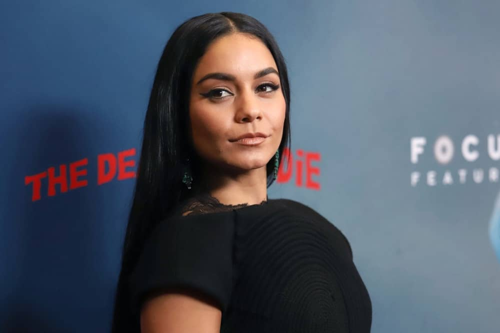 "Vanessa Hudgens attended the premiere of ""The Dead Don't Die"" at the Museum of Modern Art on June 10, 2019, in New York City. She came wearing a simple yet lovely black outfit that matches well with her elegant straight raven hair loose on her back."
