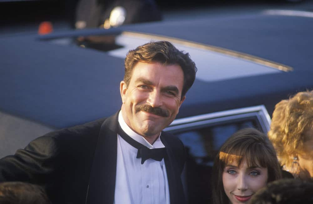Tom Selleck with his famous moustache